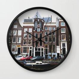 Boats of Amsterdam Wall Clock