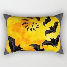 HALLOWEEN BAT INFESTED HAUNTED MOON ART DESIGN Rectangular Pillow