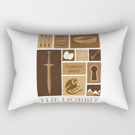 I'm going on an adventure! Rectangular Pillow