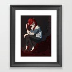 Bored. Framed Art Print