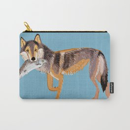 Totem Coastal wolf (Vancouver Wolf) Carry-All Pouch