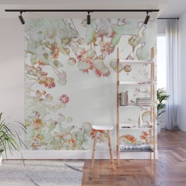 Ethereal Pastel Summer Garden Wall Mural