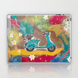 You are my Greatest Adventure - Turquoise Vespa  Laptop & iPad Skin