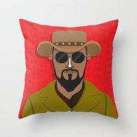 django Throw Pillows featuring Django by Mohac