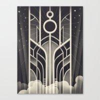 stargate Canvas Prints featuring DECO STARGATE by ChrisBrindley