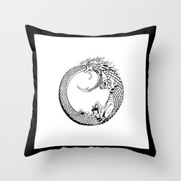 The Wyrm has Turned Throw Pillow