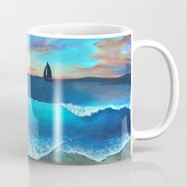 North Side Sunrise Seascape Mural Coffee Mug