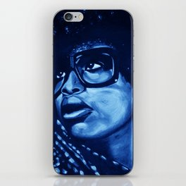 badu?!-blue iPhone Skin