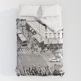 Street people in New York Comforters