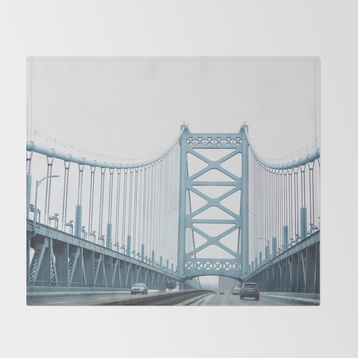 The Ben Franklin Bridge Throw Blanket