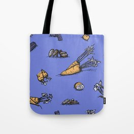 Trendy ultraviolet pattern with cattor and celery Tote Bag