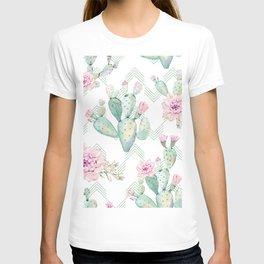 Cactus Chevron Southwestern Watercolor T-shirt