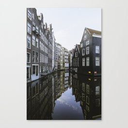 Waterways of Amsterdam Canvas Print