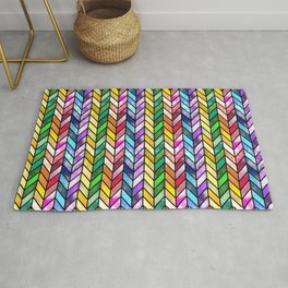 Rainbow Cathedral Window Rug
