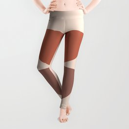 Geometric Shapes in Earthy Theme Leggings