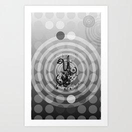 Gray Orbs Art Print