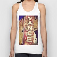 theater Tank Tops featuring vintage theater sign by melissamartin