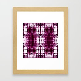 Black Cherry Plaid Shibori Framed Art Print