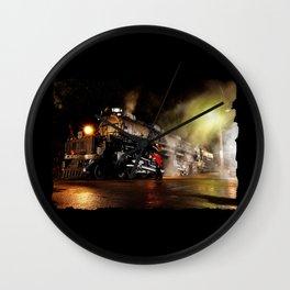 Lantern Inspection. UP 4014. Union Pacific. Steam Train Locomotive. Big Boy. © J. Montague. Wall Clock