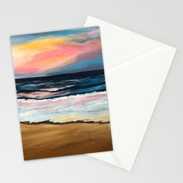 """OBX Sunset"" Beach Art Stationery Cards"