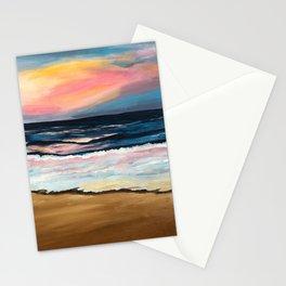 """OBX Sunset"" Beach Art Stationery Cards"