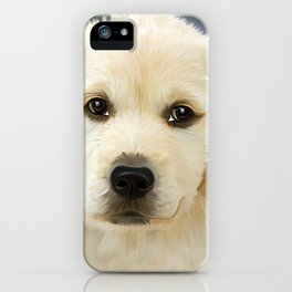 Painting Dog Golden Retriver Face Trusting Puppies iPhone Case
