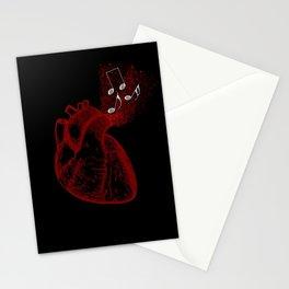 Beat (Black) Stationery Cards
