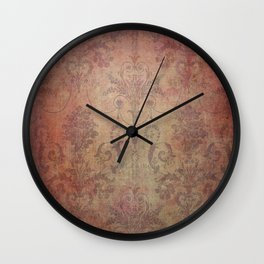 Damask Vintage Pattern 10 Wall Clock