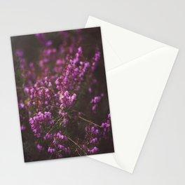 Purple Little Flowers in My Garden Stationery Cards