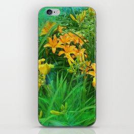 Day-glo Lilies iPhone Skin