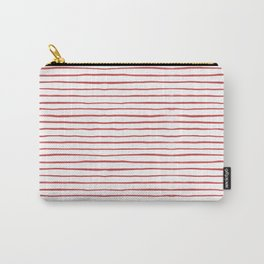 red thin stripes Carry-All Pouch