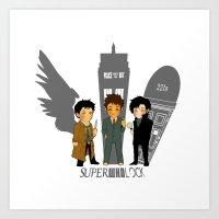 superwholock Art Prints featuring Superwholock 2 by nolongerinuse