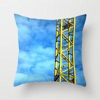 crane Throw Pillows featuring Crane by Annabies