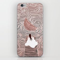 Sinking boat iPhone & iPod Skin