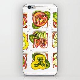 go vegan! iPhone Skin