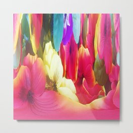 307 - Abstract Flower design Metal Print