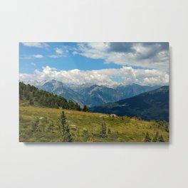 panorama cloudy alps serfaus fiss ladis tyrol austria europe Metal Print