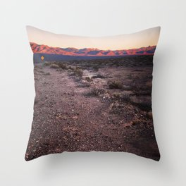 Catching the Golden Hour in Death Valley Throw Pillow