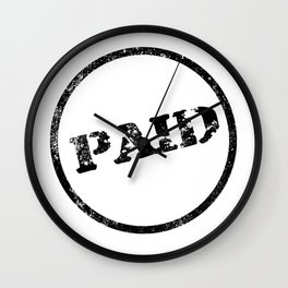 Paid Stamp Wall Clock