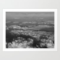 cloud Art Prints featuring cloud by habish