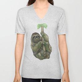 Sloth Unisex V-Neck