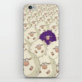 Sheep Pattern   Purple iPhone Skin