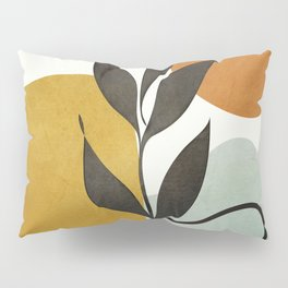 Soft Abstract Small Leaf Pillow Sham