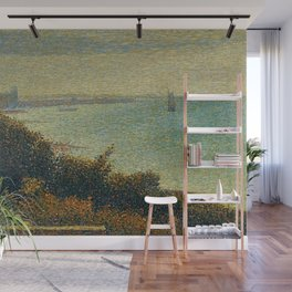 Hudson River, New York by Georges Seurat Wall Mural