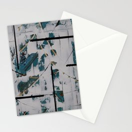 White Blue Stationery Cards