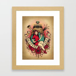 Souffle' Girl Framed Art Print