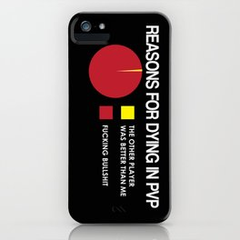 Reasons for Dying in PVP iPhone Case
