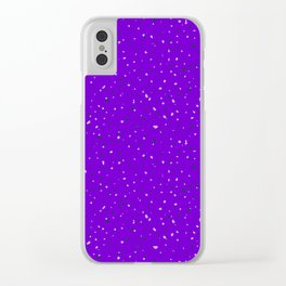 Speckles II: Purple Clear iPhone Case