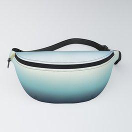 ocean sky color gradient  - blue , white , black Fanny Pack