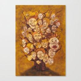 The Laid-Back Ones Tree / A Árvore dos Pacatos Canvas Print